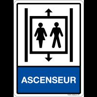 """Plaque avec symbole et texte """"Ascenseur"""" en plexiglas"""