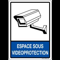 Plaque en plexiglas d'information espace sous vidéoprotection