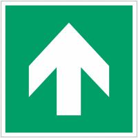 Panneaux et autocollants NF EN ISO 7010 Flèche Evacuation Droite - A090