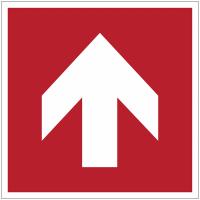 Panneaux et autocollants NF EN ISO 7010 Flèche Incendie Droite - A090R