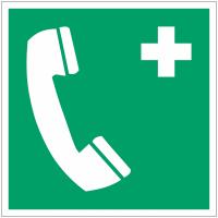 Pictogramme ISO 7010 en rouleau Téléphone d'urgence - E004