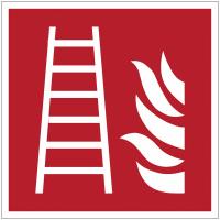 Panneaux et autocollants NF EN ISO 7010 Echelle d'incendie - F003