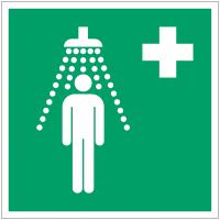 Panneaux et autocollants NF EN ISO 7010 Douche de sécurité - E012