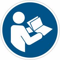 Panneaux et autocollants NF EN ISO 7010 Consulter le manuel/la notice d'instructions - M002
