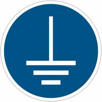 Panneaux et autocollants NF EN ISO 7010 Mise à la terre obligatoire - M005
