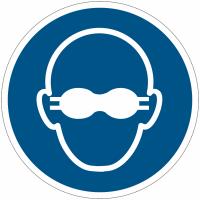 Panneaux et autocollants NF EN ISO 7010 Lunettes de protection opaques obligatoires - M007