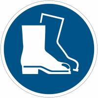Pictogramme ISO 7010 en rouleau Chaussures de sécurité obligatoires - M008