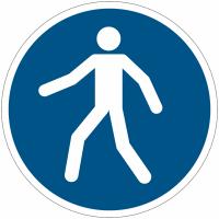 Panneaux et autocollants NF EN ISO 7010 Utilisez le passage - M024