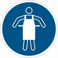 Panneaux et autocollants NF EN ISO 7010 Tablier de protection obligatoire - M026
