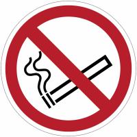 Panneaux et autocollants NF EN ISO 7010 Interdiction de fumer - P002