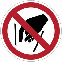 Panneaux et autocollants NF EN ISO 7010 Ne pas mettre les mains - P015