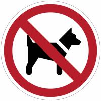 Panneaux et autocollants NF EN ISO 7010 Interdit aux chiens - P021