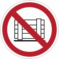 Panneaux et autocollants NF EN ISO 7010 Ne pas obstruer - P023
