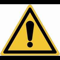 Panneaux et autocollants NF EN ISO 7010 Danger Général - W001