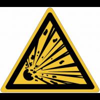 Panneaux et autocollants NF EN ISO 7010 Matières explosives - W002