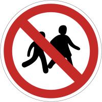 Panneaux et autocollants NF EN ISO 7010 Accès interdit aux enfants - P036