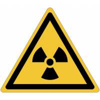 Pictogramme ISO 7010 en rouleau Danger Matières radioactives ou radiations ionisantes - W003