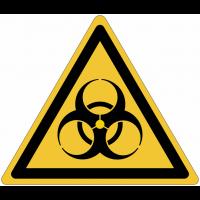 Panneaux et autocollants NF EN ISO 7010 Risque biologique - W009