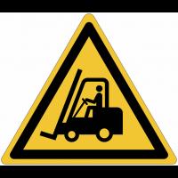 Panneaux et autocollants NF EN ISO 7010 Chariots élévateurs et autres véhicules industriels - W014
