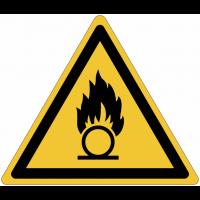 Panneaux et autocollants NF EN ISO 7010 Substances comburantes - W028