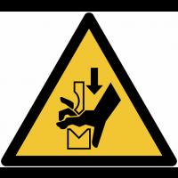 Panneaux et autocollants NF EN ISO 7010 Ecrasement de la main dans l'outil d'une presse plieuse - W030