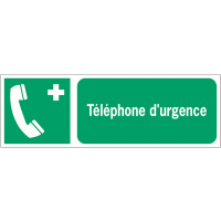 Panneaux ISO 7010 horizontaux Téléphone d'urgence - E004