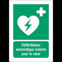Panneaux NF EN ISO 7010 A3/A4/A5 Défibrillateur automatique externe pour le cœur - E010