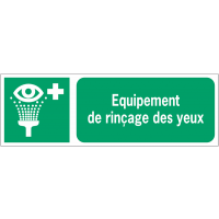 Panneaux ISO 7010 horizontaux Equipement de rinçage des yeux - E011