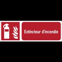 Panneaux ISO 7010 horizontaux Extincteur d'incendie - F001