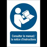 Panneaux NF EN ISO 7010 A3/A4/A5 Consulter le manuel/la notice d'instructions - M002