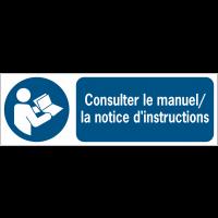 Panneaux ISO 7010 horizontaux Consulter le manuel/la notice d'instructions - M002