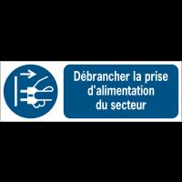 Panneaux ISO 7010 horizontaux Débrancher la prise d'alimentation du secteur - M006