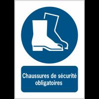 Panneaux NF EN ISO 7010 A3/A4/A5 Chaussures de sécurité obligatoires - M008