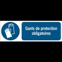 Panneaux ISO 7010 horizontaux Gants de protection obligatoires - M009