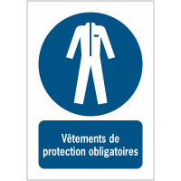 Panneaux NF EN ISO 7010 A3/A4/A5 Vêtements de protection obligatoires - M010