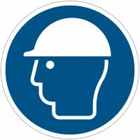 Pictogramme ISO 7010 en rouleau Casque de protection obligatoire - M014