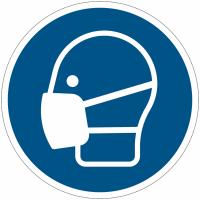 Pictogramme ISO 7010 en rouleau Masque obligatoire - M016