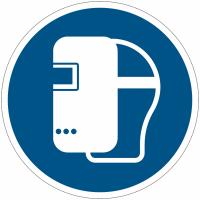 Pictogramme ISO 7010 en rouleau Masque de soudage obligatoire - M019