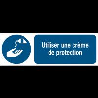 Panneaux ISO 7010 horizontaux Utiliser une crème de protection - M022