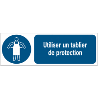 Panneaux ISO 7010 horizontaux Tablier de protection obligatoire - M026