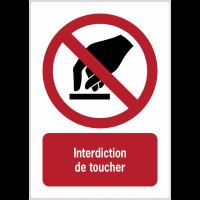 Panneaux NF EN ISO 7010 A3/A4/A5 Interdiction de toucher - P010