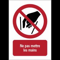 Panneaux NF EN ISO 7010 A3/A4/A5 Ne pas mettre les mains - P015