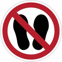 Pictogramme ISO 7010 en rouleau Ne pas marcher ou stationner à cet endroit - P024