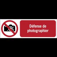 Panneaux ISO 7010 horizontaux Interdiction de photographier - P029