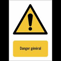 Panneaux NF EN ISO 7010 A3/A4/A5 Danger Général - W001