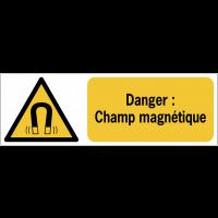 Panneaux ISO 7010 horizontaux Danger Champ magnétique - W006