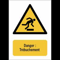 Panneaux NF EN ISO 7010 A3/A4/A5 Danger Trébuchement - W007