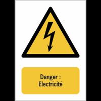 Panneaux NF EN ISO 7010 A3/A4/A5 Danger Electricité - W012