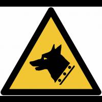 Pictogramme ISO 7010 en rouleau Danger Chien de garde - W013