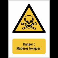 Panneaux NF EN ISO 7010 A3/A4/A5 Danger Matières toxiques - W016